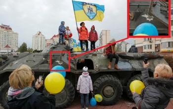 Фото на могиле украинских солдат