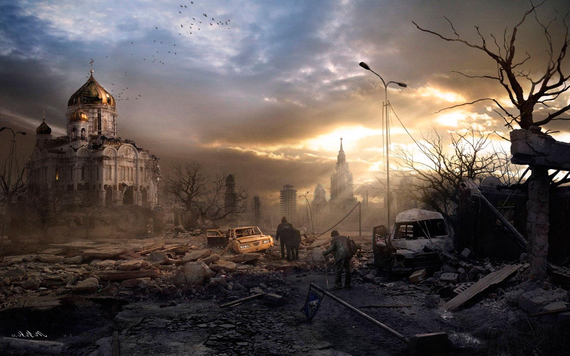 Руины городов после обстрела