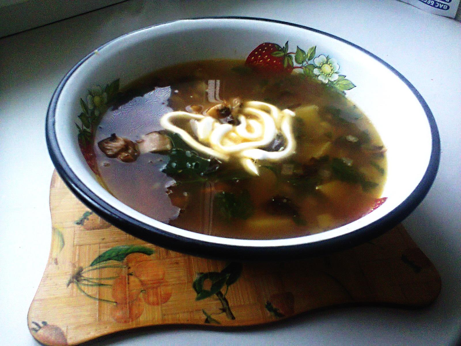 гречневый суп с грибами