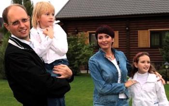 Яценюк с семьёй