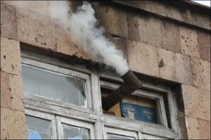 дымоход из форточки
