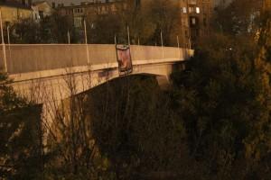 Плакат на Тёщином мосту