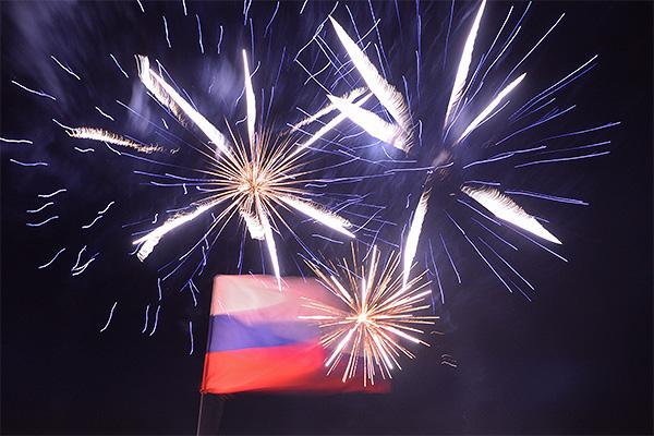 Празднование первой годовщины референдума, в результате которого Крым воссоединился с Россией
