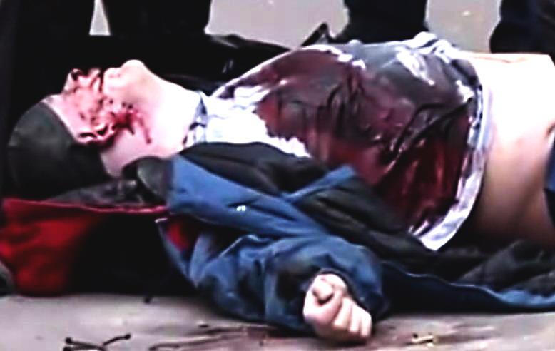 Олесь Бузина убит видео с места трагедии