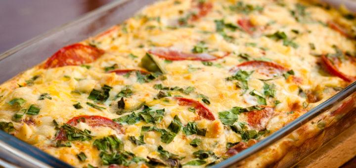 Овощная запеканка с сыром и кабачками